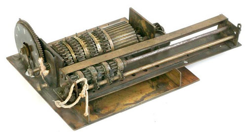 The third calculating machine of Edmund D. Barbour (Courtesy of the Smithsonian Institution)