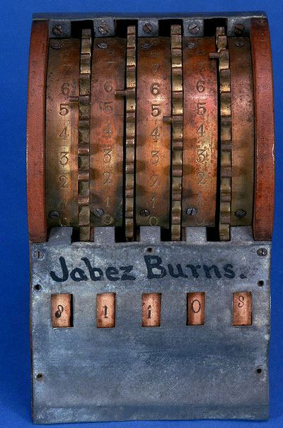 The patent model of Burns' addometer (© Smithsonian National Museum)