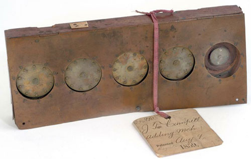 The calculating machine of John T. Campbell, the patent model (© National Museum of American History)