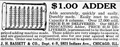 Basset Adder's ad from 1913