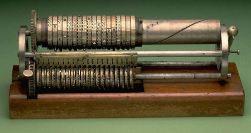 Grant Calculating Machine, Centennial Model (from 1876) (courtesy of National Museum of American History)