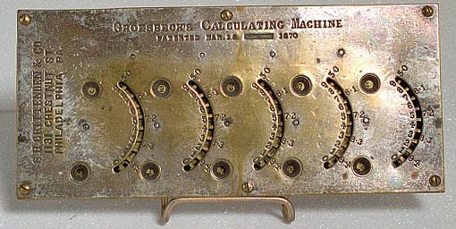 Groesbeck's Calculating Machine