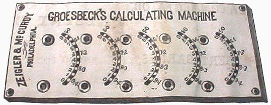 Groesbeck's Adding Machine (an advertisement drawing)