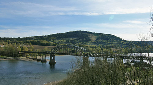 The railway bridge Järnvägsbron i Minnesund, designed by of Axel Jacob Petersson in late 1870s