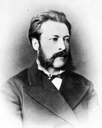 Odhner at the age of 33 in 1878