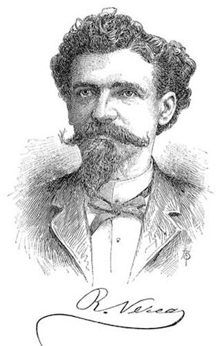 D. Ramon Verea y Garcia, on the front page of El Eco de Galicia newspaper, Nr. 229, Buenos Aires, 28/02/1898