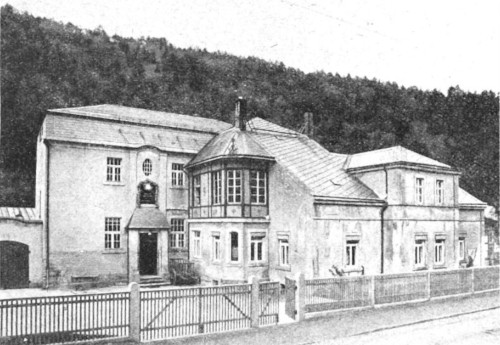 Burkhardt's residence and production facility in Glashütte