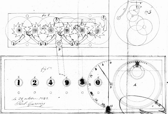 The patent drawing of Jean-Paul Garnier's computer