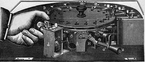 The calculating machine of Edmondson, (source Фон-Бооль, Приборы и машины для..., Москва, 1896)