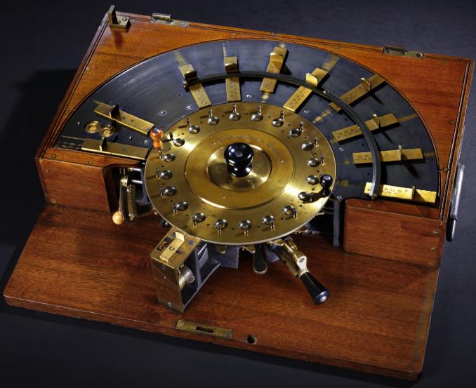 The patent model of circular calculating machine of Edmondson