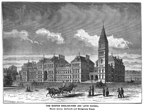 English High School in Boston in 1881