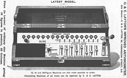 Layton's improved arithmometer, a model from 1911