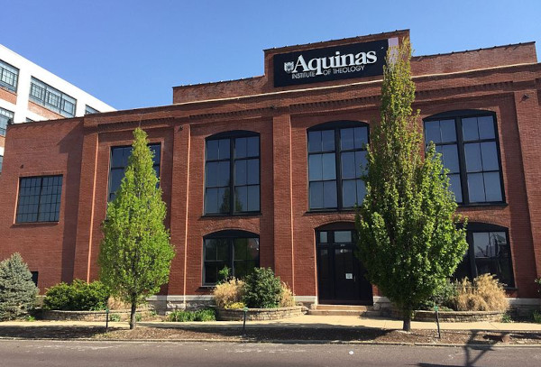 The building, built in 1903 to house Standard Adding Machine Company, now Aquinas Institute of Theology