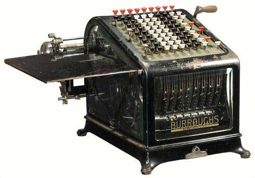 Burroughs Adding Machine, Class 1, Model 9 (Courtesy of Mr. John Wolf)