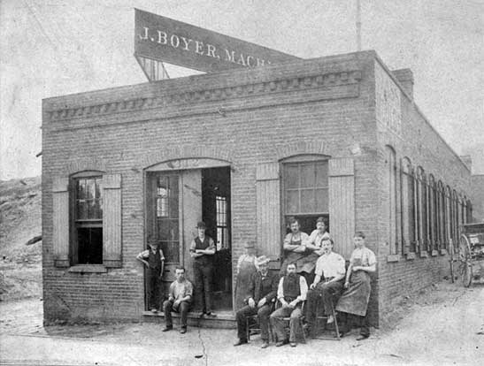 Joseph Boyer's machine shop, St. Louis, 1880