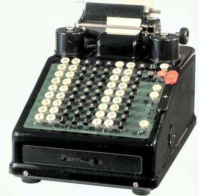Burroughs Portable Adding Machine (Courtesy of Mr. John Wolf)