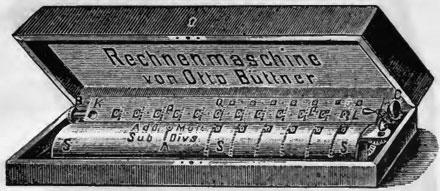 The calculating machine of Carl Otto Büttner