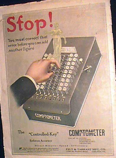 Comptometer Model E (first color add of a Comptometer)