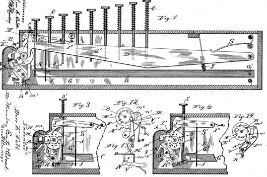 The patent of Comptometer from 1887