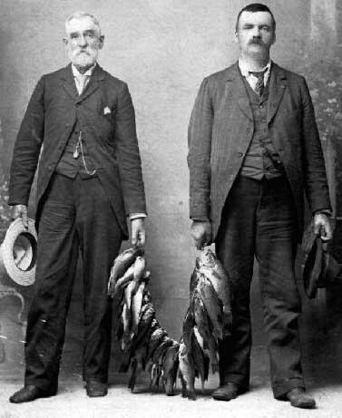 Apparently, Dorr Eugene Felt (right) and his sponsor Robert Tarrant also shared an interest in fishing :-)