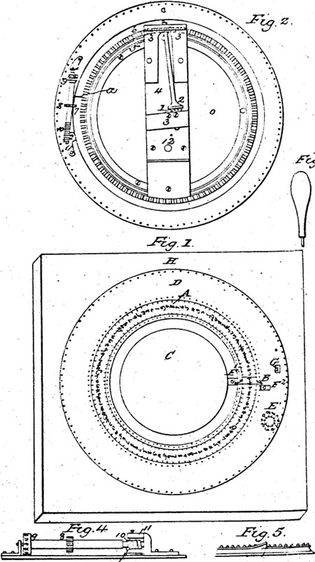 The mechanical calculator of William Haines (the patent drawing)