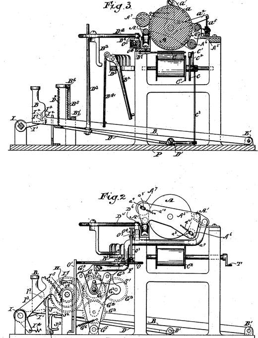 Patent US384373 of Albert C. Ludlum (fig. 2, and 3)