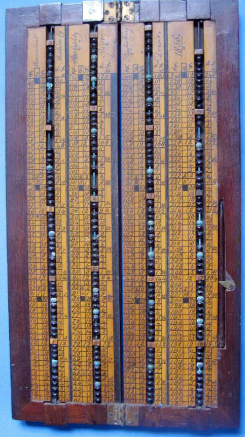 Appleby's Accountant Machine, opened box (Courtesy of Mr. Walter Szrek)