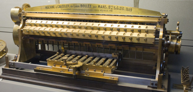 The multiplying calculating machine of Bollée