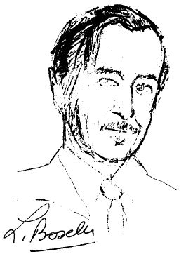 Geoff Hill, a sketch from his friend, the noted Barbizon painter Louis Boselli