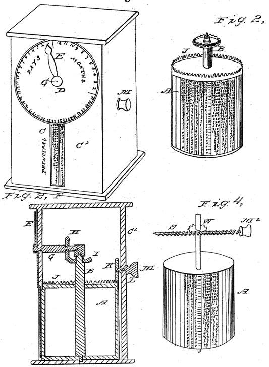 Jehu Hatfield's machine (the patent drawing)