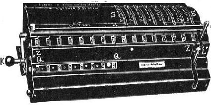 Rechenmaschine von Küttner (calculating machine of Küttner)