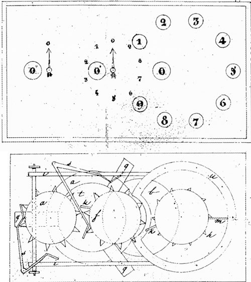 The patent drawing of Martial Roussel, describing the second device