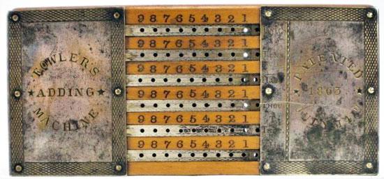 Fowler's adding machine
