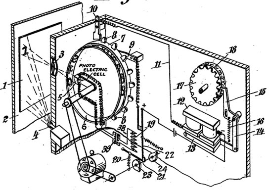 The patent drawing of Reading Machine of Tauschek