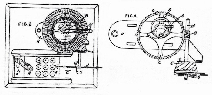 The Bentham Calculating Machine of Moses and William Pullen, the drawing from British patent (GB1948)