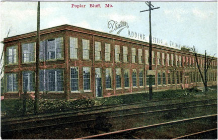 The purpose-built in 1909 factory building of Dalton Adding Machine Co. in Poplar Bluff, MO