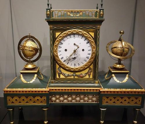 Double globe clock by Schuster (Mathematical-Physical Salon, Zwinger, Dresden)