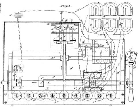 The single-column electric adding machine of Charles Weiss