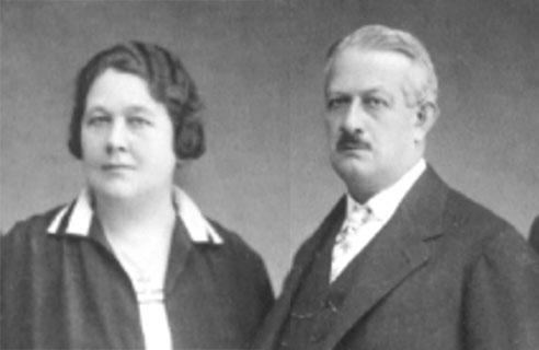 Samuel Jakob Herzstark (1867-1937) and his wife Marie Amalie Herzstark (1875-1956)