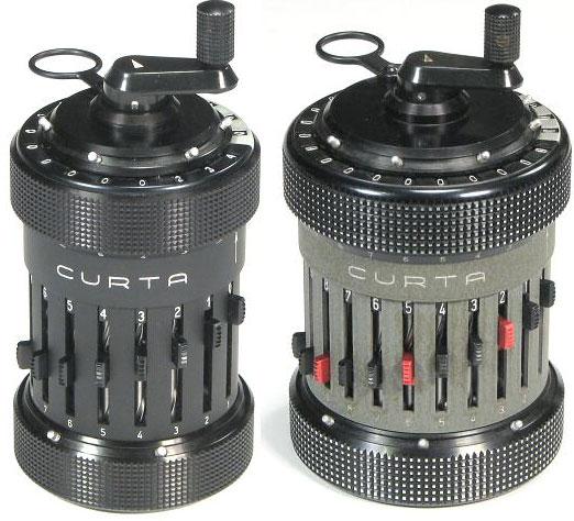 Curta Model I (left image) and Type II (right image)