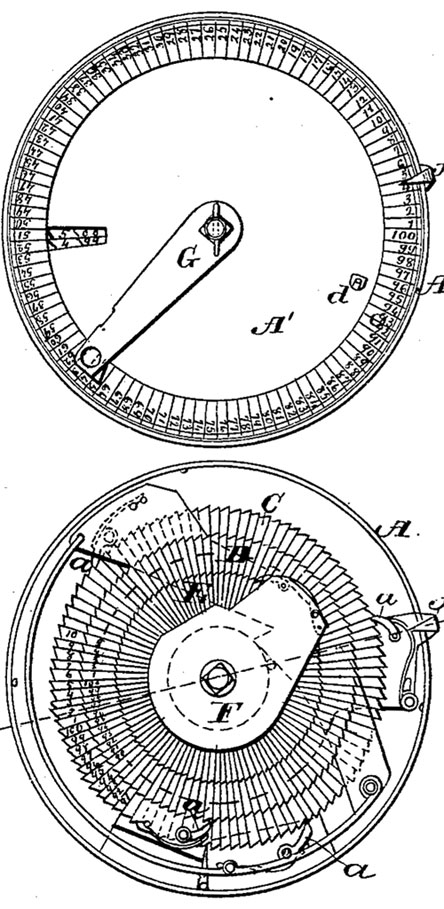 The tallying instrument of George Farmer (the patent drawing)