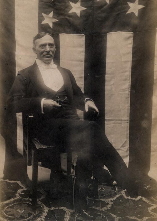 Samuel Comfort as U.S. consul at Calcutta, India, end of 1890s