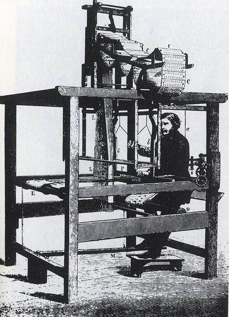 An old Jacquard loom