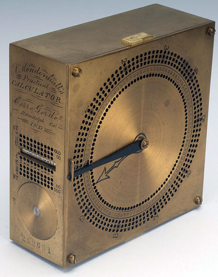 The practical calculator of Amos Mendenhall (© National Museum of American History, Washington, D.C.)