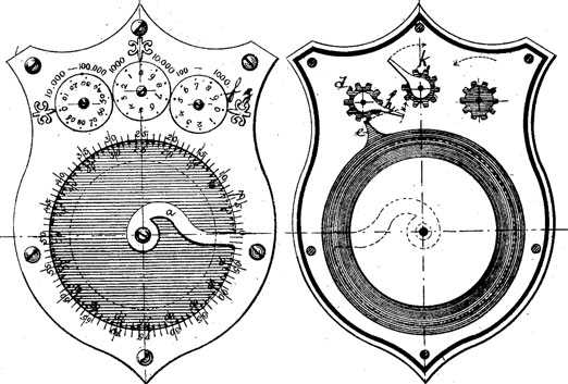 The patent drawing of adding machine of Gustavus Linderoos
