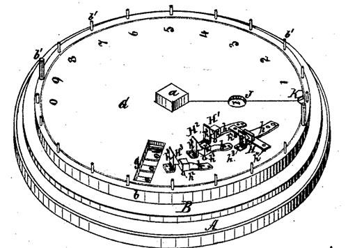 Solomon Pool's adding machine (the patent drawing)