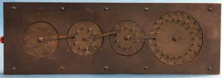 The patent model of Stephenson's adding machine (© Smithsonian Institution)