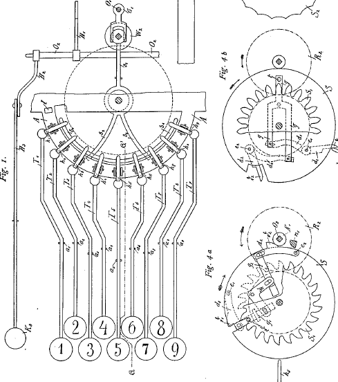 Cuhel patent drawing, German patent №59377 from 13 Aug 1890