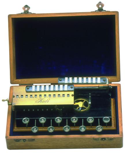 The Kuli adding machine of Pallweber/Bordt from 1913