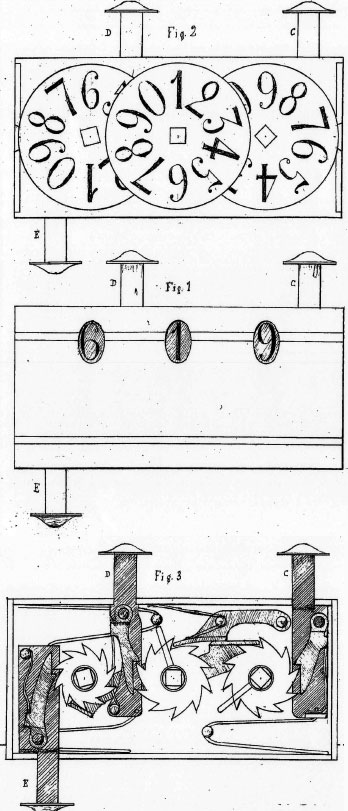The patent drawing of the second machine of Petetin
